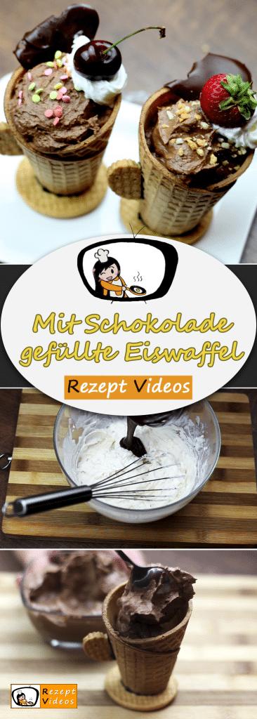 Mit Schokolade gefüllte Eiswaffel, Eis Rezept, Desserts, Nachspeise, Rezept Videos, leckere Rezepte, einfache Rezepte, Frühstück Rezepte, Frühstücksrezepte, schnelle Rezepte