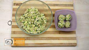 Zucchini-Käse-Bällchen Rezept - Zubereitung Schritt 4