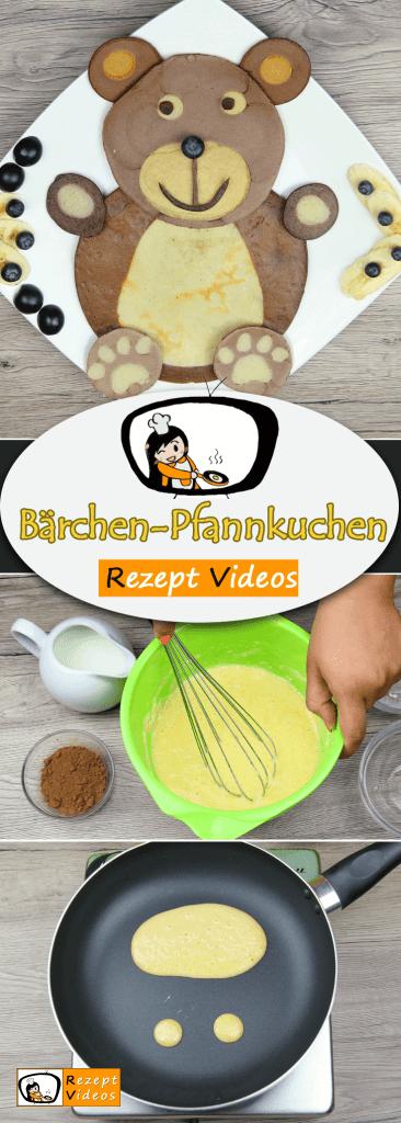 Bärchen-Pfannkuchen,  Rezeptvideos, einfache Rezepte, Pfannkuchen Rezepte, Frühstück Rezept, Kinder Rezept, leckere Rezepte