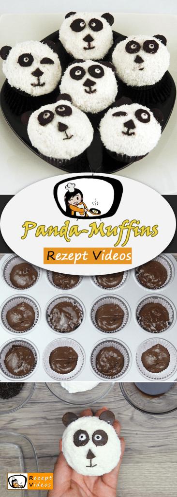 Panda-Muffins, Rezept Videos, einfache Rezepte, Muffin Rezepte, Kuchen Rezept, Kinder Rezept, leckere Rezepte