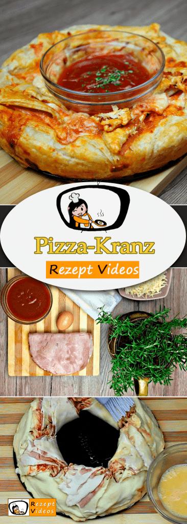 Pizza-Kranz,  Rezeptvideos, einfache Rezepte, Pizza Rezepte, Fingerfood, Partyfood, Party Rezept, Mittagessen Rezept, leckere Rezepte