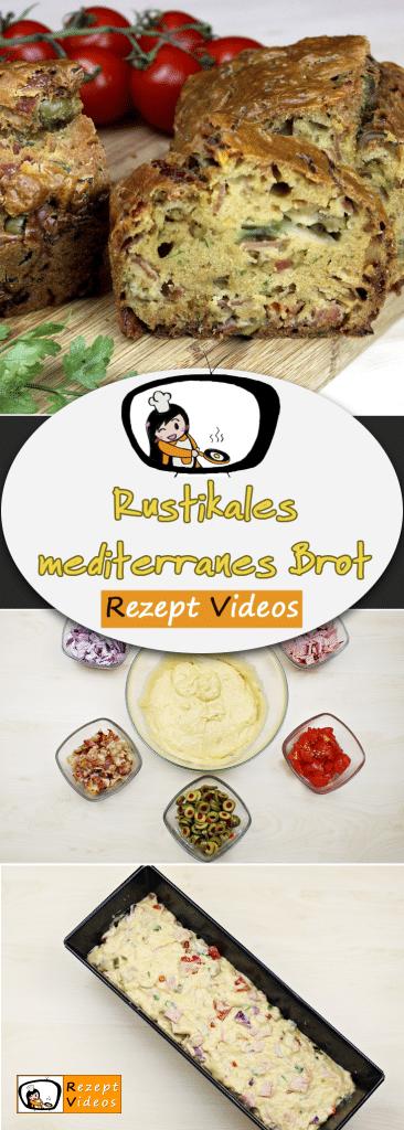Rustikales mediterranes Brot,  Rezeptvideos, einfache Rezepte, Brot Rezept, Frühstücksrezepte, Mittagessen Rezept, leckere Rezepte