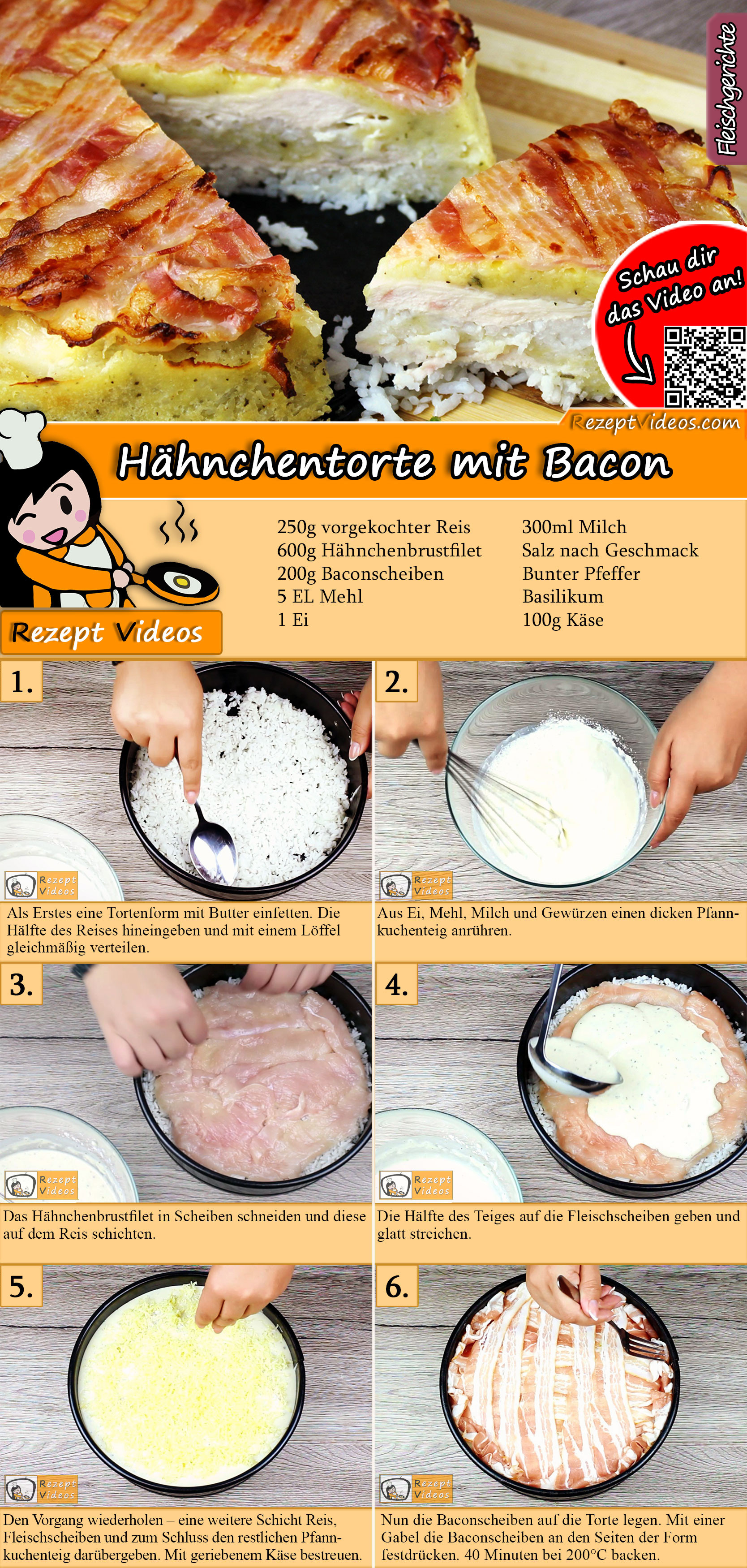Hähnchentorte Rezept mit Video