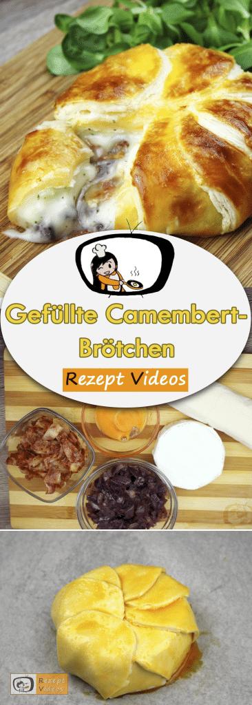 Gefüllte Camembert-Brötchen, Rezeptvideos, leckere Rezepte, einfache Rezepte, Frühstück Rezepte, Frühstücksrezepte, schnelle Rezepte