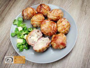 Mit Käse gefüllte Fleischbällchen im Speckmantel - Rezept Videos