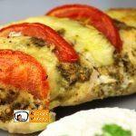 Hähnchenbrust mit Pesto und Mozzarella
