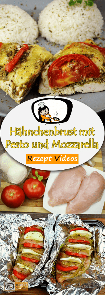 Hähnchenbrust mit Pesto und Mozzarella, Hähnchengerichte, Geflügelgerichte, Rezeptvideos, einfache Rezepte, leckere Rezepte