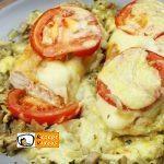 Hähnchenbrust mit Käse und Pilzen