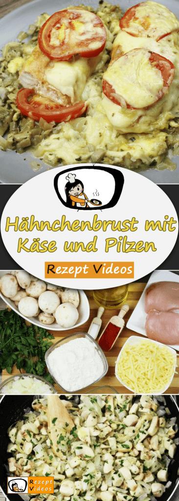 Hähnchenbrust mit Käse und Pilzen, Rezept Videos, einfache Rezepte, Hähnchenrezepte, leckere Rezepte