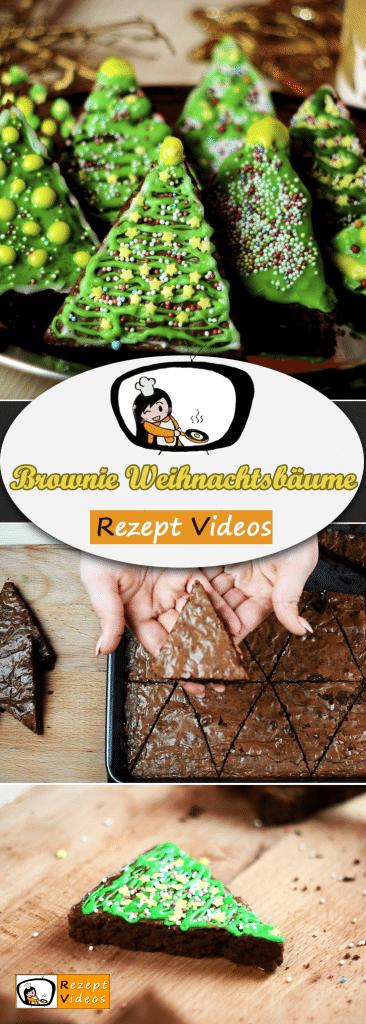 Brownie Weihnachtsbäume, Rezeptvideos, leckere Rezepte, einfache Rezepte, Frühstück Rezepte, Frühstücksrezepte, schnelle Rezepte, Weihnachten Rezepte, Advent, Brownie Rezept