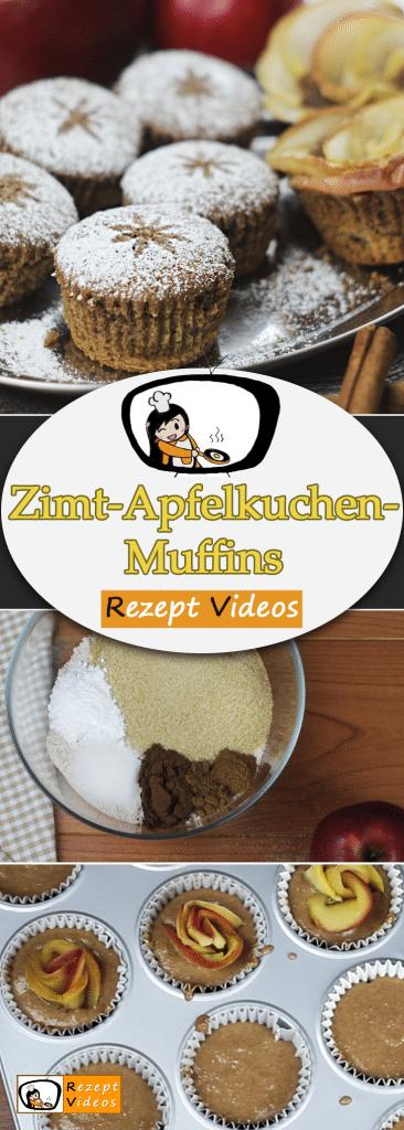 Zimt-Apfelkuchen-Muffins, Rezept Videos, Muffinrezept, Muffin Rezept, Weihnachten Rezepte, einfache Rezepte, einfache Gerichte, Kuchen Rezepte