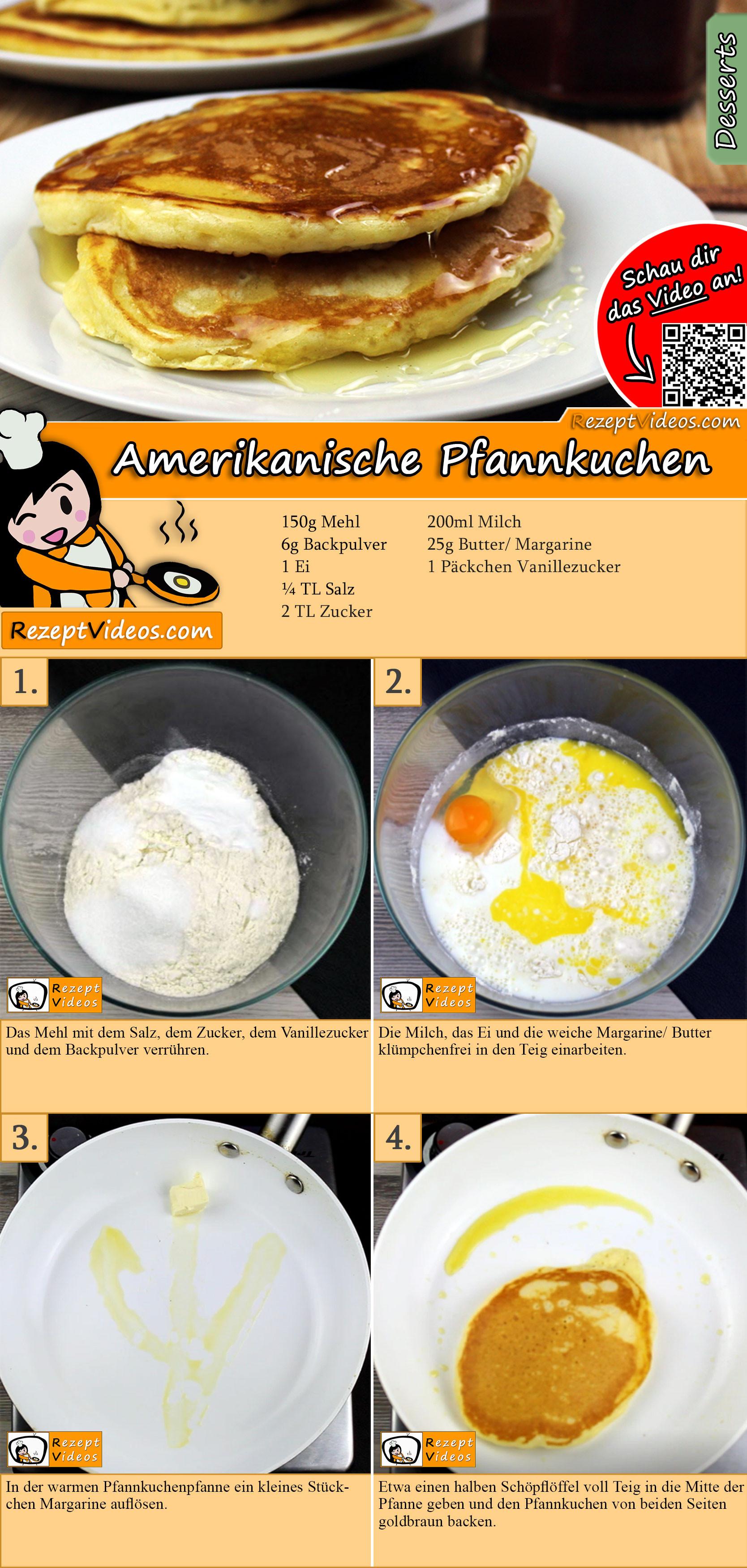 Amerikanische Pfannkuchen Rezept Mit Video Pfannkuchenteig Rezept