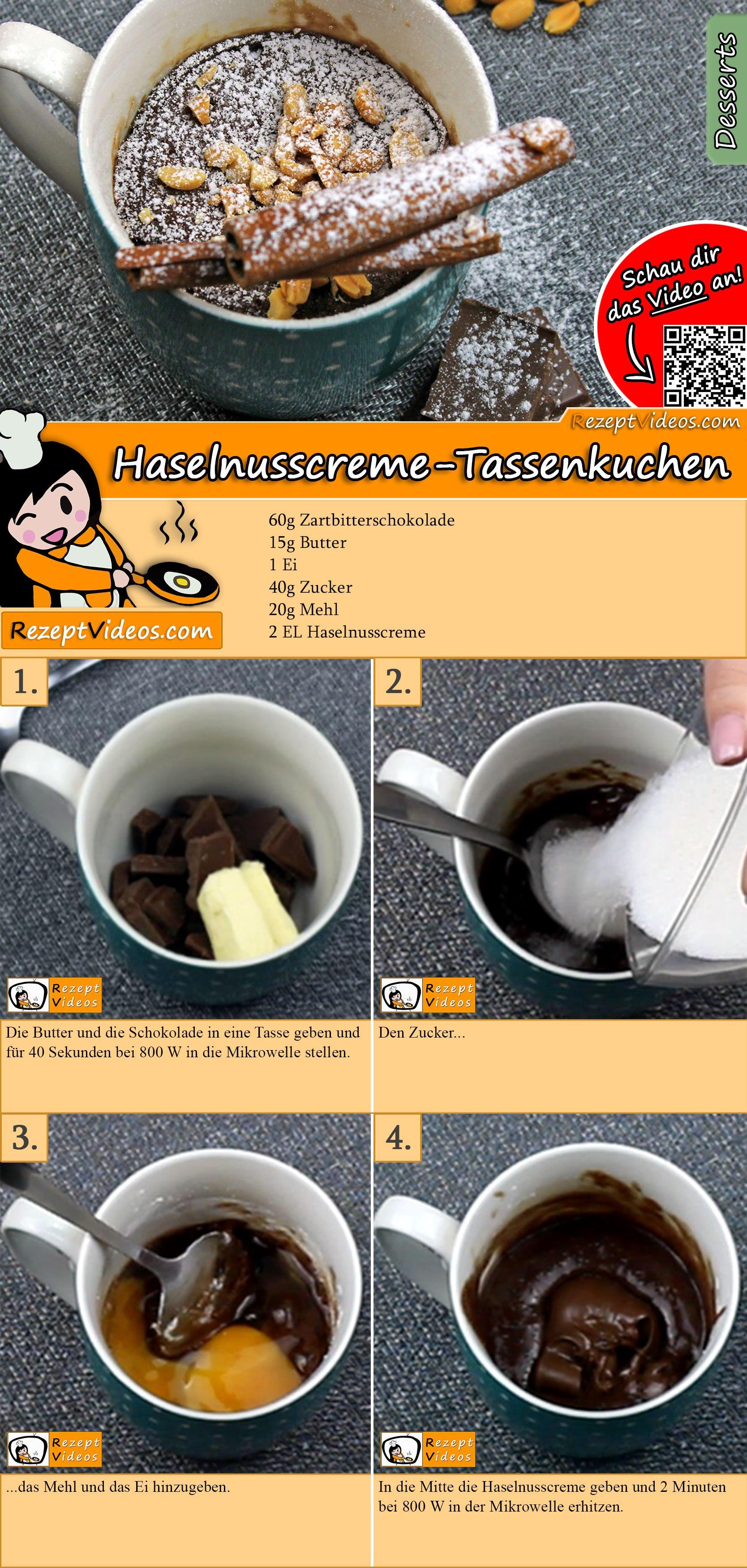 Haselnusscreme Tassenkuchen Rezept Mit Video Kuchenrezepte