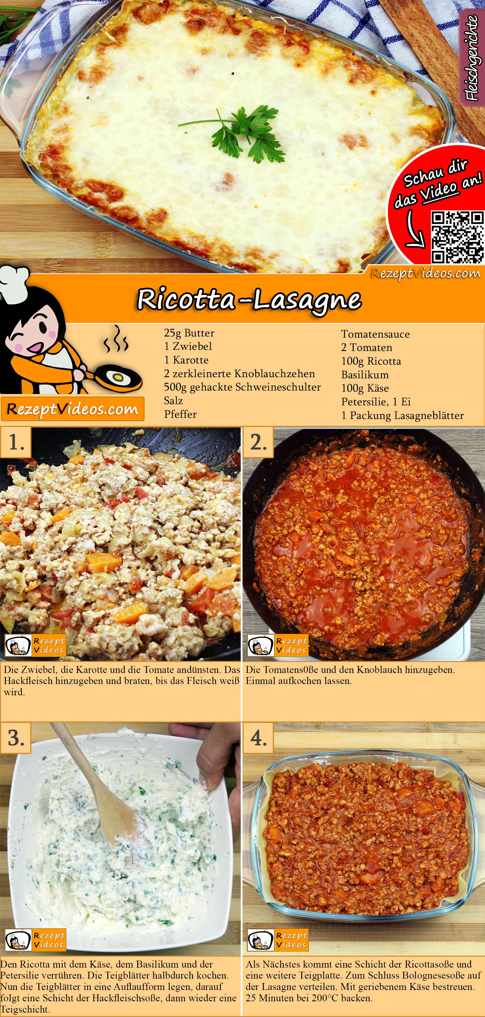 Ricotta-Lasagne Rezept mit Video