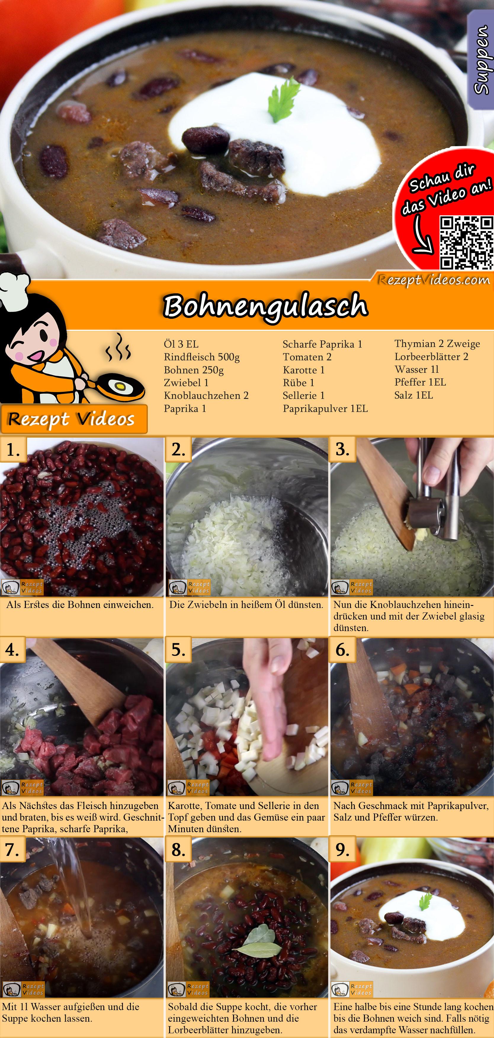 Bohnengulasch Rezept mit Video