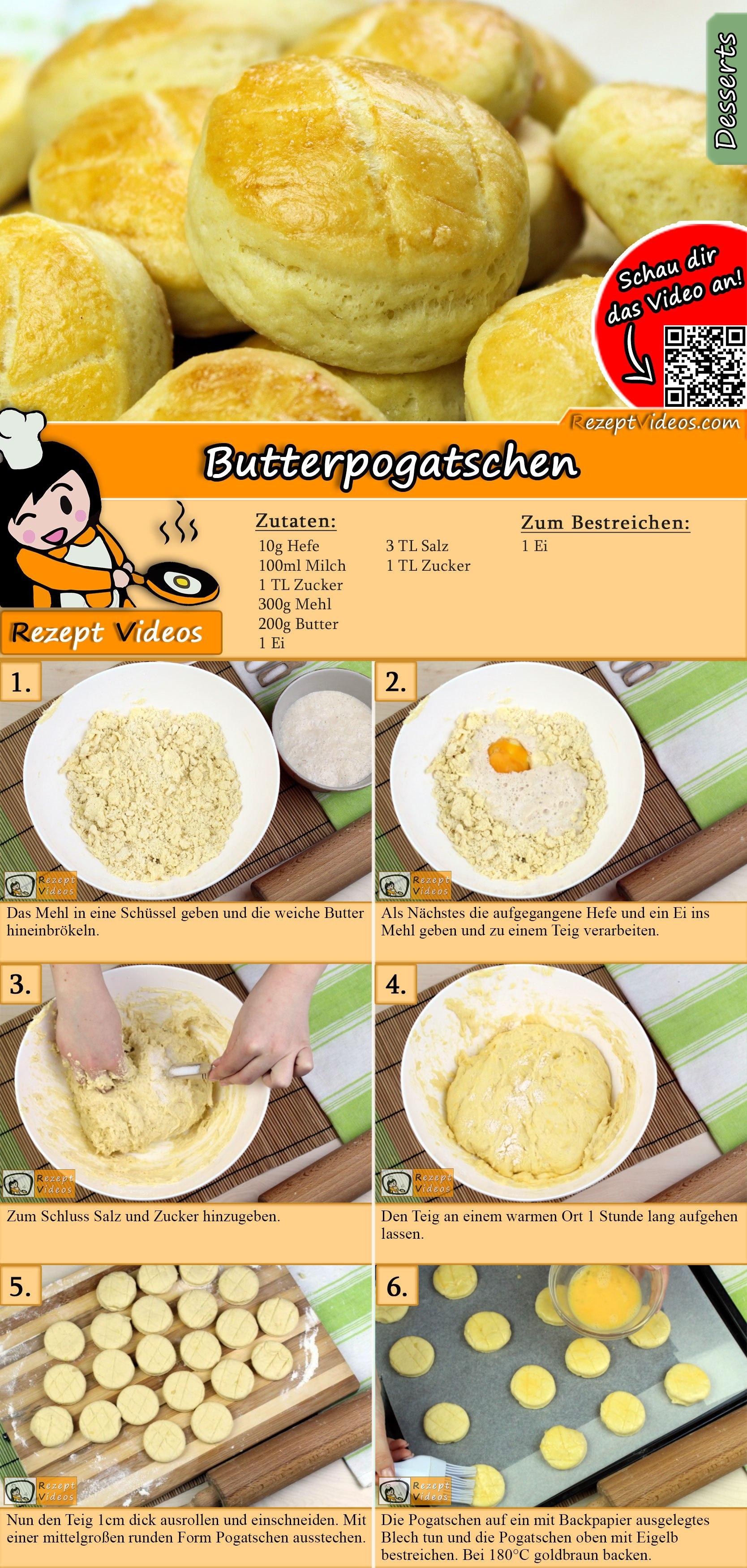 Butterpogatschen Rezept mit Video