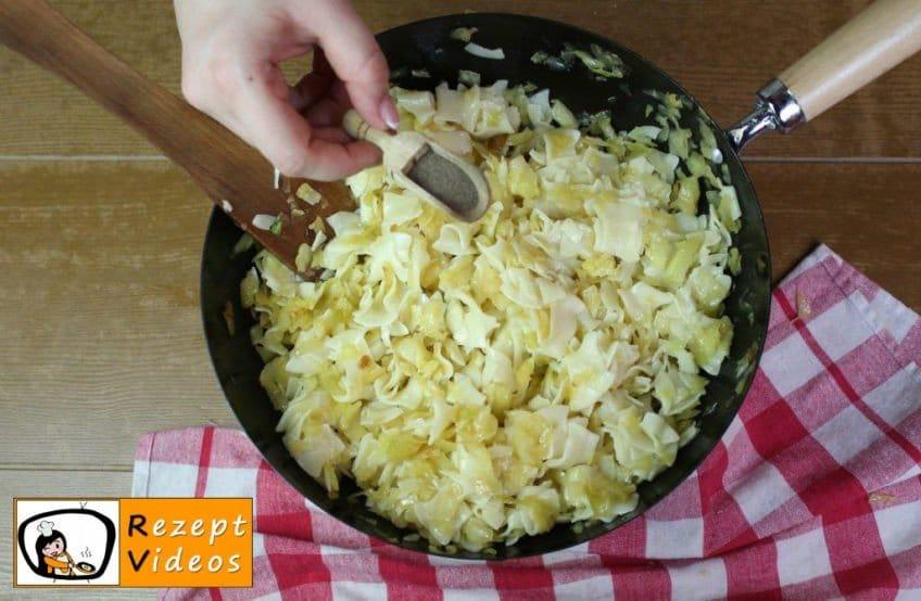 Einfache Krautfleckerl Rezept - Zubereitung Schritt 5