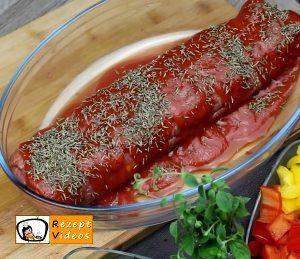 Makkaroni-Fleisch-Rolle Rezept Zubereitung Schritt 5