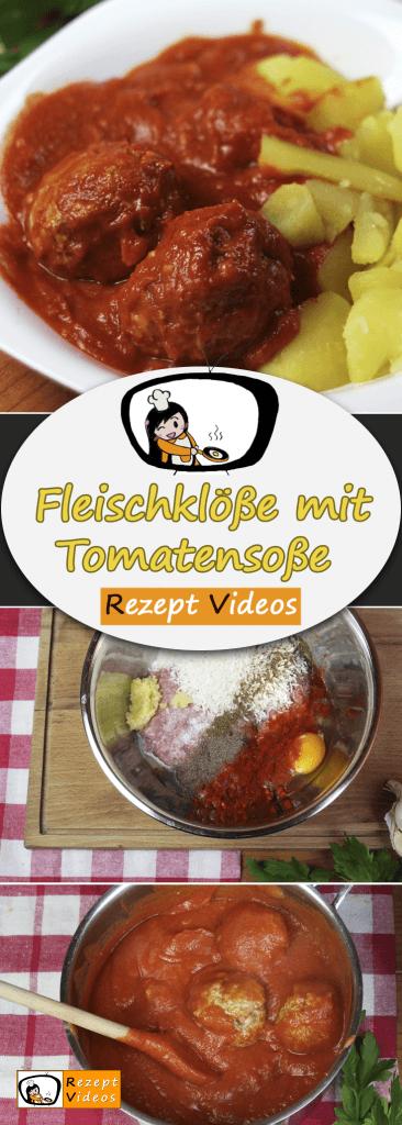 Fleischklöße mit Tomatensoße, Rezept Videos, Fleischklöße, Fleischgerichte Rezepte, einfache Rezepte, schnelle Rezepte, einfache Gerichte,