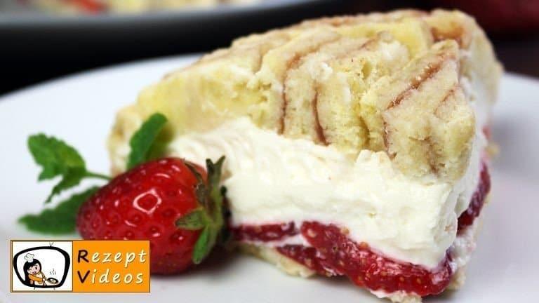 Erdbeer-Frischkäse-Charlotte