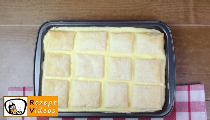 Hausgemachte Cremeschnitten Rezept Zubereitung Schritt