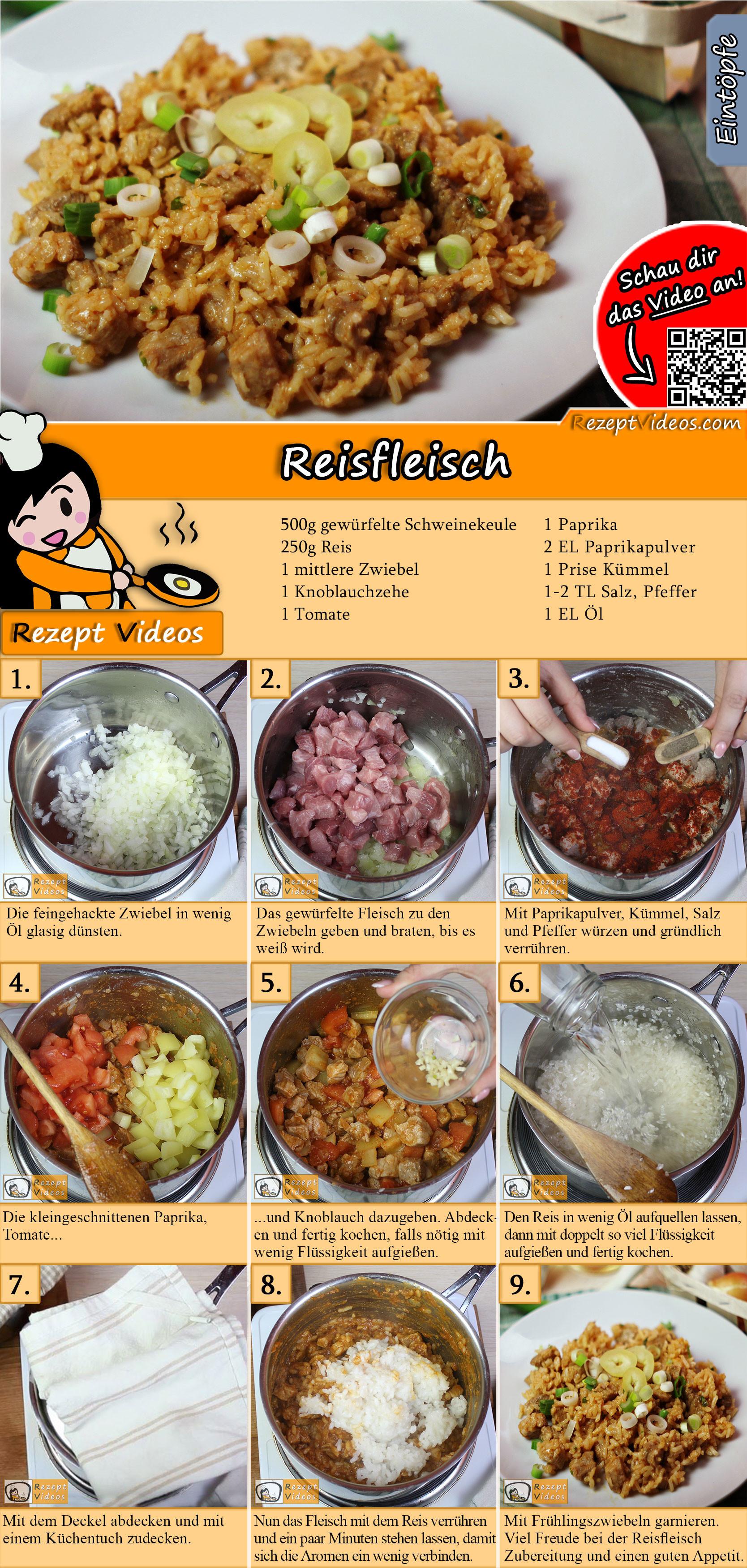 Reisfleisch Rezept mit Video