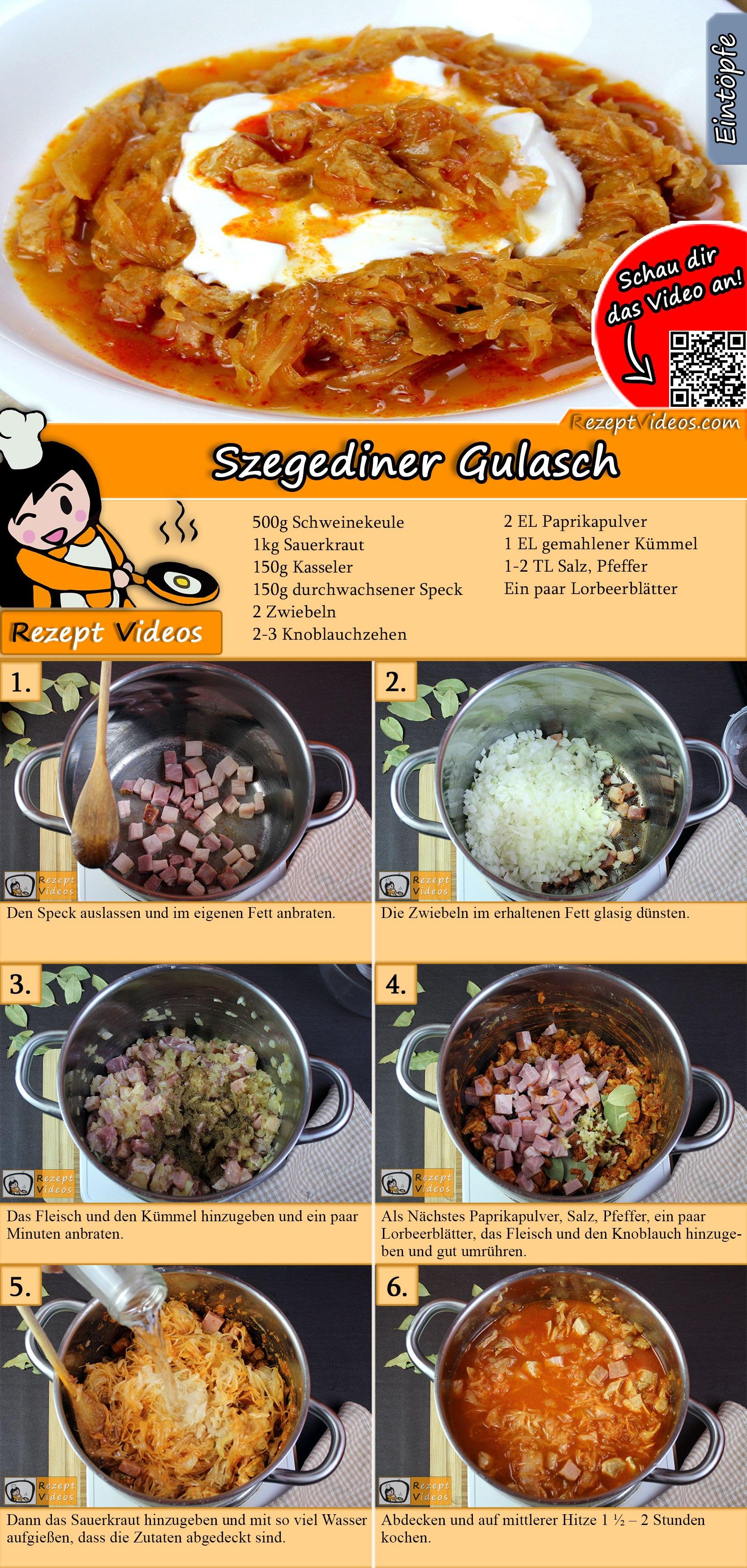 Szegediner Gulasch Rezept mit Video
