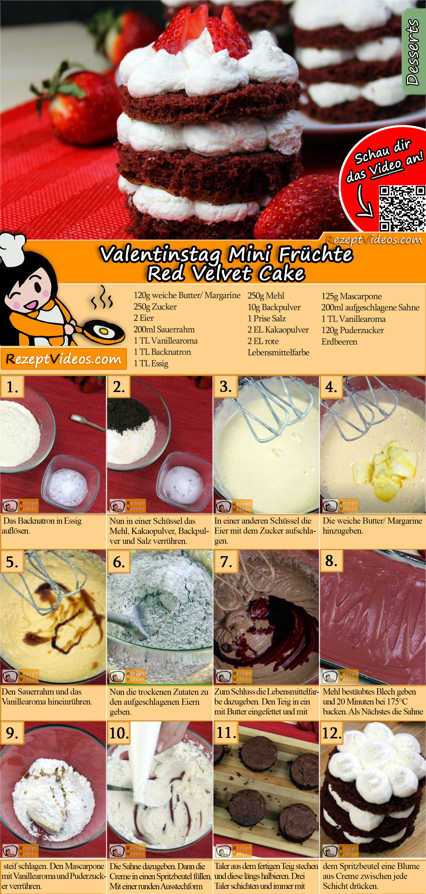 Valentinstag Mini Fruchte Red Velvet Cake Rezept Mit Video