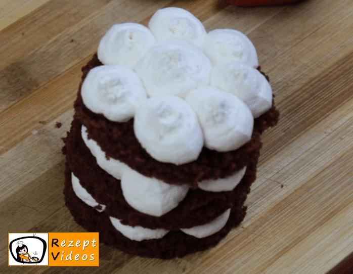 Valentinstag Mini Früchte Red Velvet Cake Rezept Zubereitung Schritt 1