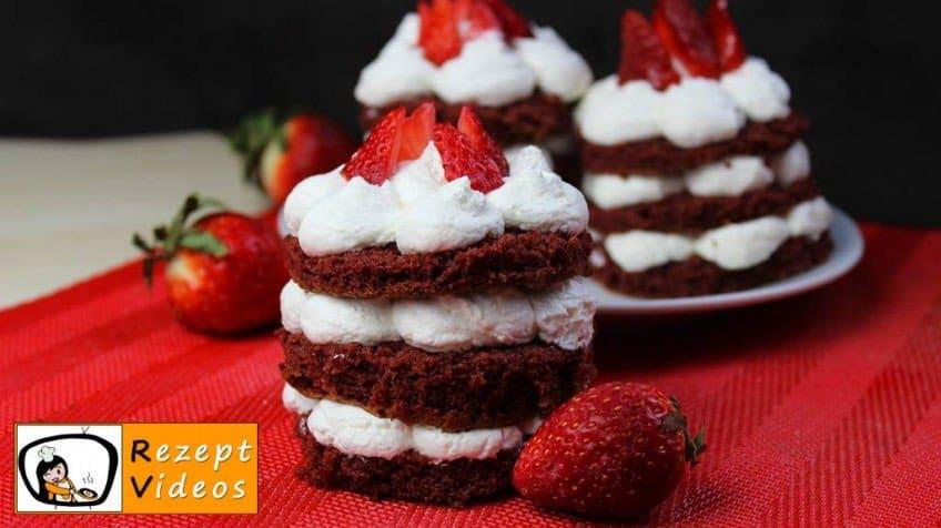Valentinstag Mini Früchte Red Velvet Cake - Rezept Videos