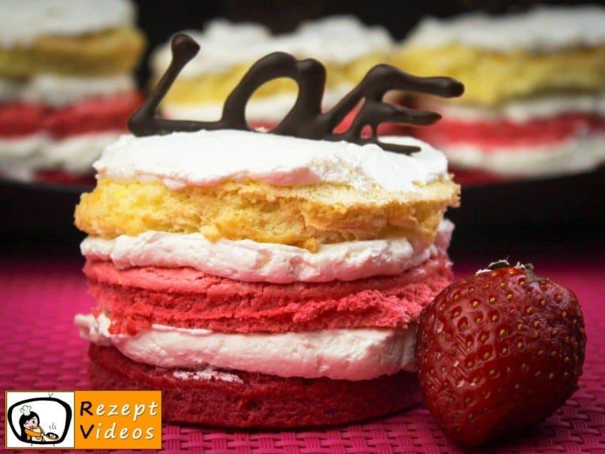 Valentinstag Mini Ombré Torte - Rezept Videos