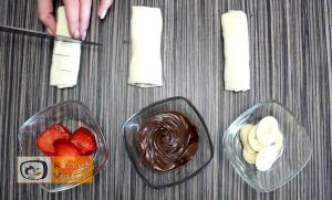 5 Minuten Früchte-Nutella-Wundergebäck Rezept - Zubereitung Schritt 3