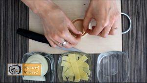 Mit Käse und Schinken gefüllte Zwiebelringe Rezept Zubereitung Schritt 3