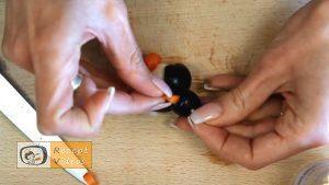 Pinguin-Fingerfood aus Mozzarella Rezept - Zubereitung Schritt 4