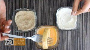 Mit Käse und Schinken gefüllte Zwiebelringe Rezept Zubereitung Schritt 5
