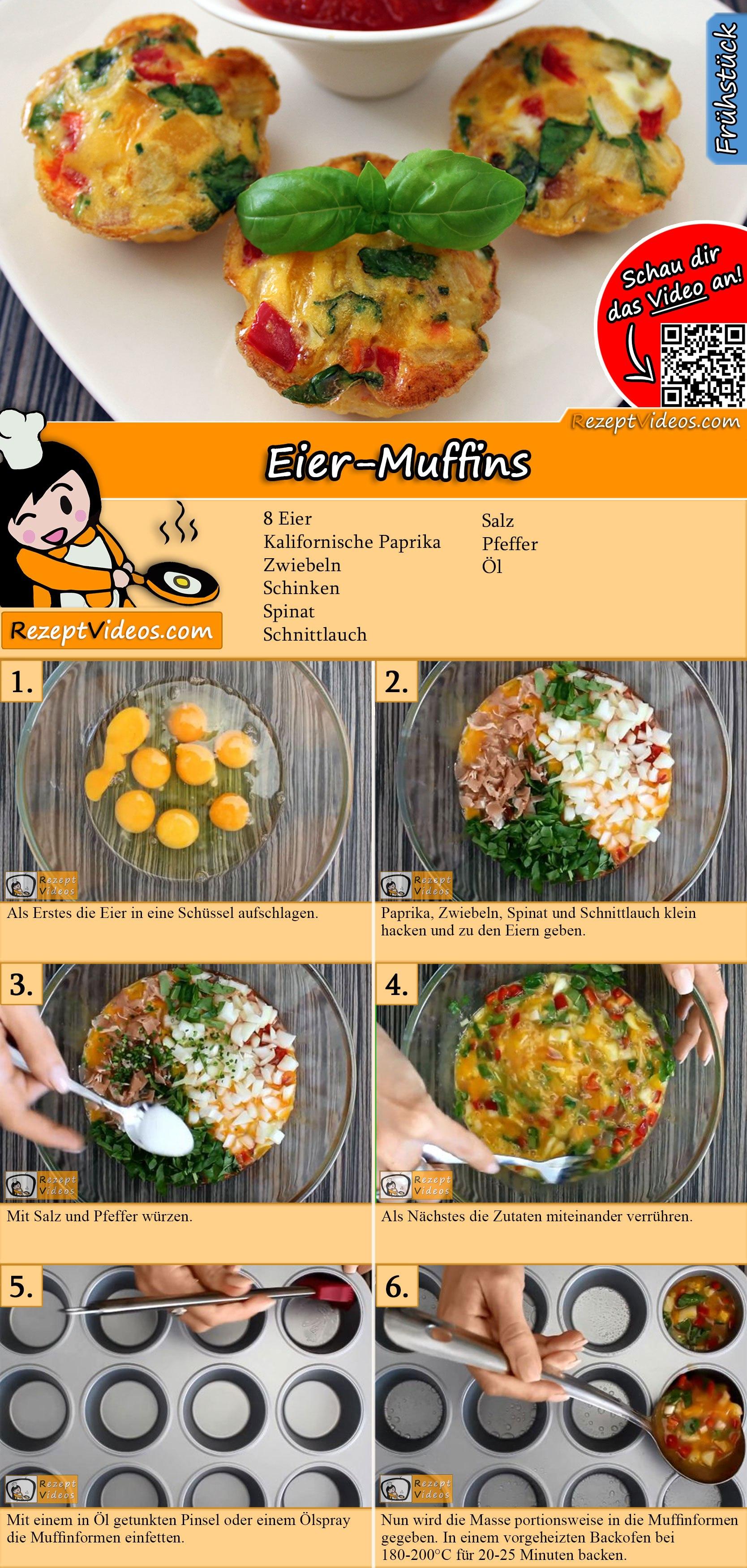 Eier-Muffins Rezept mit Video