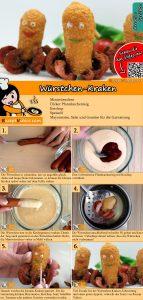 Würstchen-Kraken Rezept mit Video