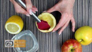 Früchtebecher mit Apfelblumen Rezept - Zubereitung Schritt 2