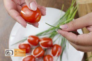 Tomaten-Tulpen mit Fetafüllung Rezept - Zubereitung Schritt 4