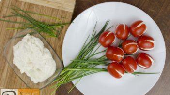 Tomaten-Tulpen mit Fetafüllung
