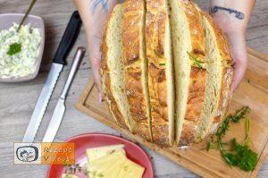 Mit Käse und Kräutern gefülltes Brot Rezept - Zubereitung Schritt 2