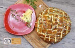 Mit Käse und Kräutern gefülltes Brot Rezept - Zubereitung Schritt 4