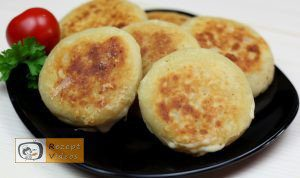Mit Käse und Schinken gefüllte Kartoffelpfannkuchen - Rezept Videos