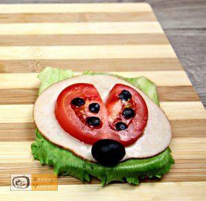 Marienkäfer-Sandwich Rezept - Zubereitung Schritt 4