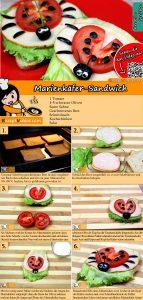 Marienkäfer-Sandwich Rezept mit Video