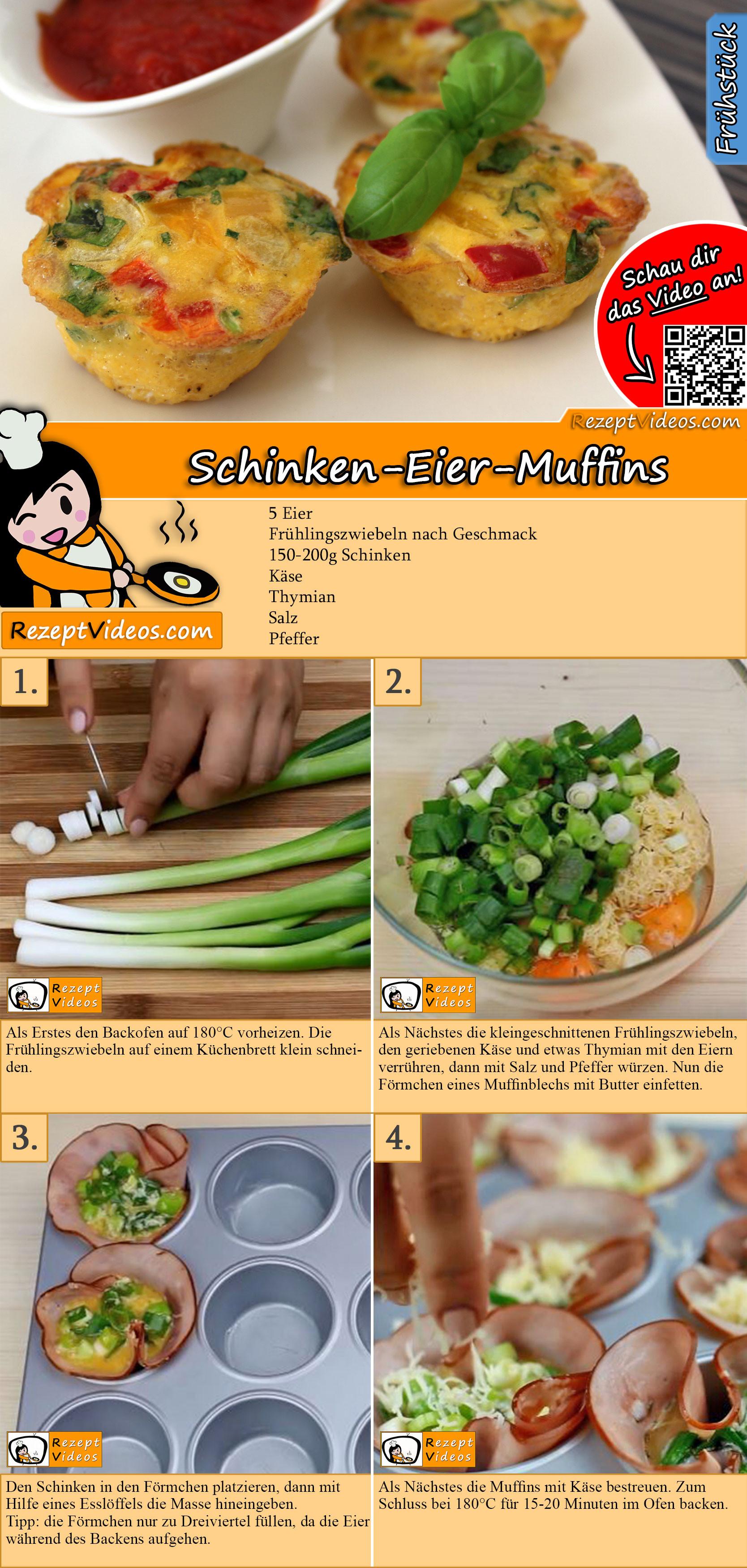 Schinken-Eier-Muffins Rezept mit Video