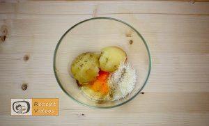 Mit Käse und Schinken gefüllte Kartoffelpfannkuchen Rezept - Zubereitung Schritt 2