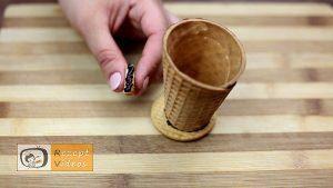Mit Schokolade gefüllte Eiswaffel Rezept - Zubereitung Schritt 3