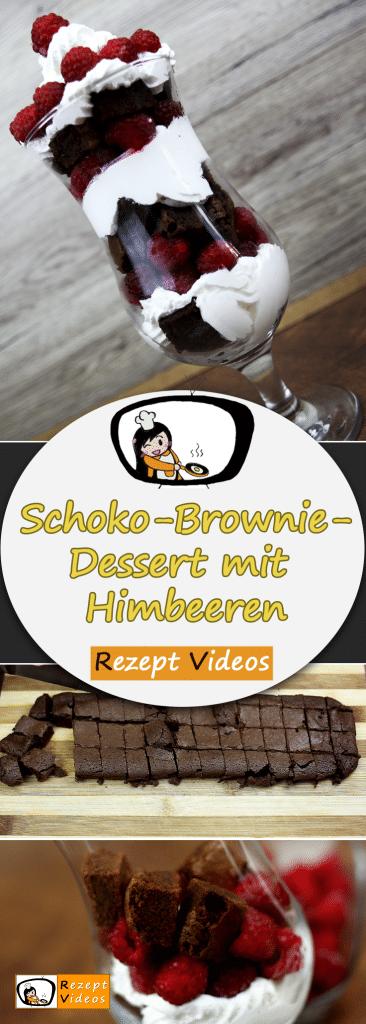 Schoko-Brownie-Dessert mit Himbeeren, Rezept Videos, Dessert Rezept, Nachspeise, Brownie Rezept, einfache Rezepte, leckere Rezepte