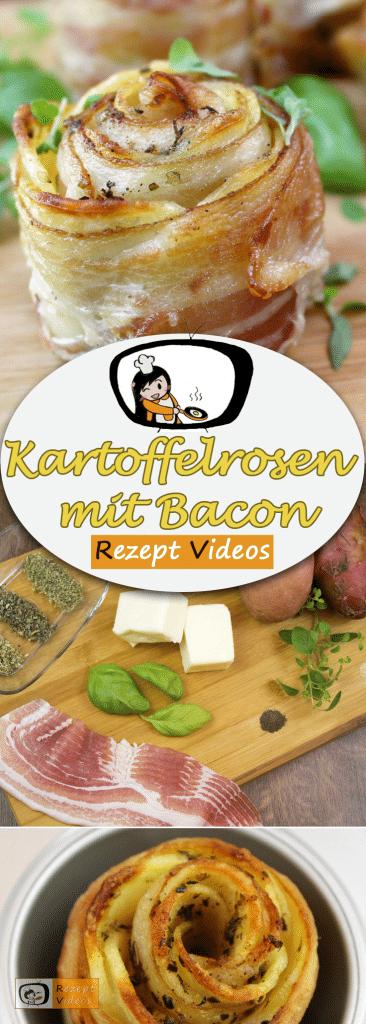Kartoffelrosen mit Bacon, Rezept Videos, Bacon Rezept, einfache Rezepte, Mittagessen Rezept, leckere Rezepte